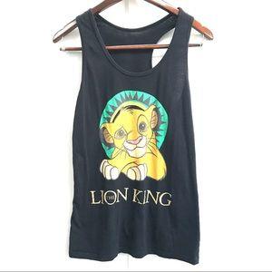 Disney The Lion King Simba Black Racerback Tank
